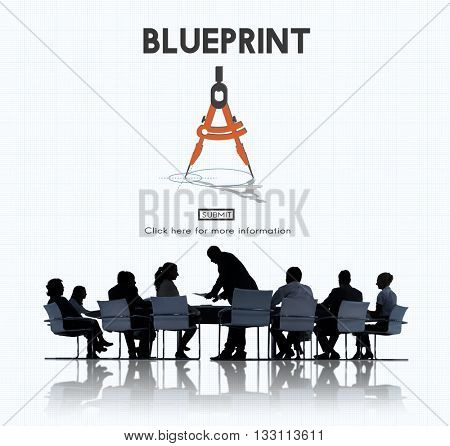 Blueprint Architect Dimensions Project Drafting Concept