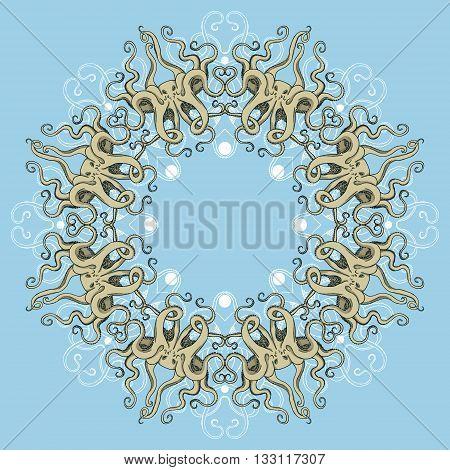 Circular Octopus Ornament