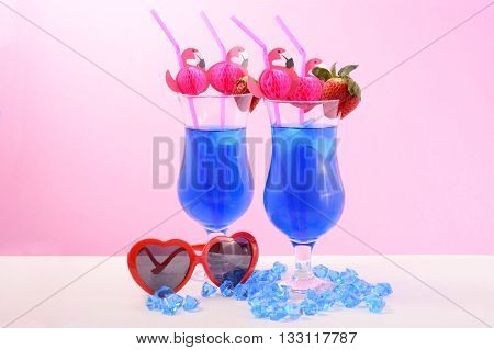 Summer Is Here Blue Cocktails