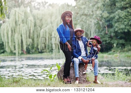 Stylish And Rich African American Family