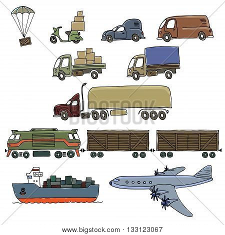 Sketches Of Cargo Delivery