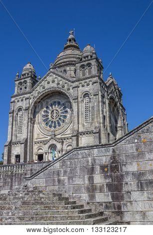 VIANA DO CASTELO, PORTUGAL - APRIL 25, 2016: Santa Luzia church in Viana do Castelo, Portugal