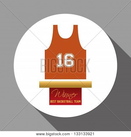 Basketball concept with icon design, vector illustration 10 eps graphic.