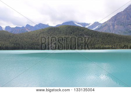 lovely blend of sky colours with mountains and lake