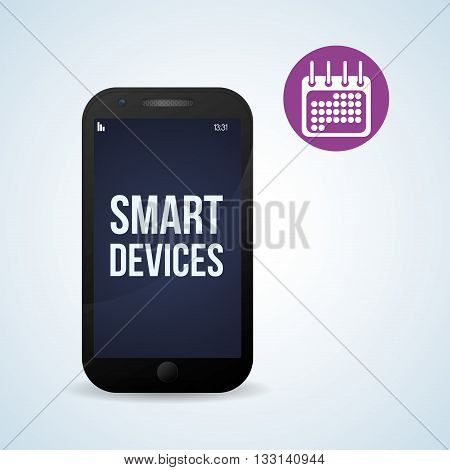 Smart device concept with icon design, vector illustration 10 eps graphic.
