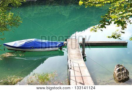 Lungerer lake, Switzerlnd
