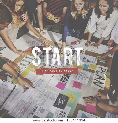 Start Beginning Launch Startup Activation Forward Concept