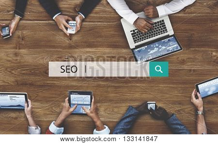 Search Engine Optimization Data Digital SEO Concept