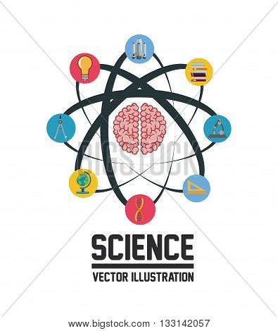 Science  concept with chemistry icons design, vector illustration 10 eps graphic.