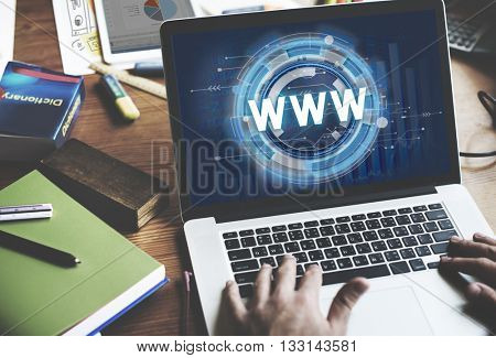 WWW Hud Web Online Technology Concept