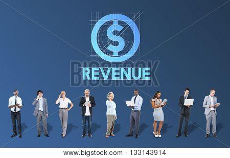 Revenue Finance Business People Technology Graphic Concept