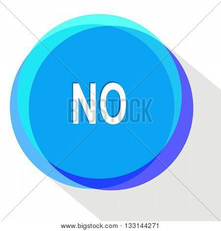 no. Internet template. Vector icon.