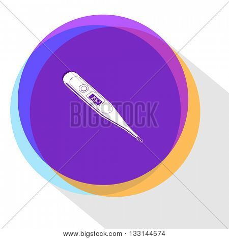 thermometer. Internet template. Vector icon.
