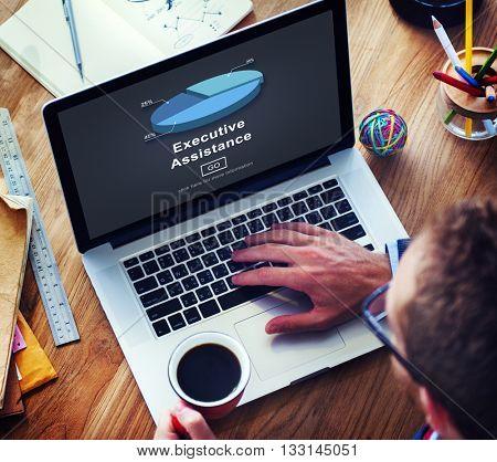 Executive Assistance Corporate Business Web Online Concept
