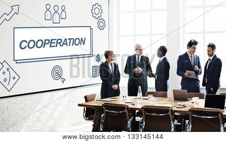 Cooperation Business Agreement Collaboration Graphic Concept