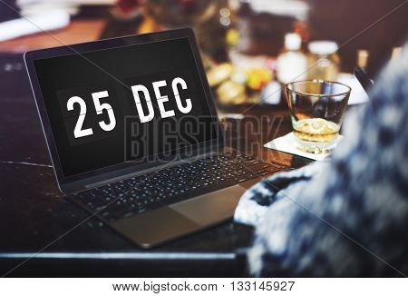 Christmas Holiday Date Technology Graphic Concept