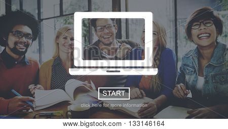 Computer Laptop Online Technology Concept