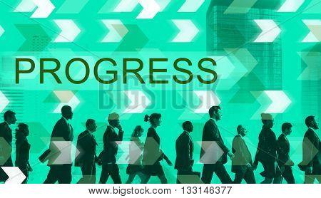Progress Development Growth Advancement Concept