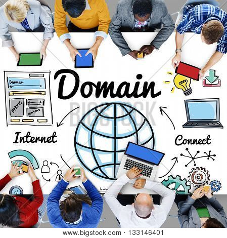 Domain Global Communication Homepage Www Concept