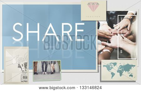 Share Social Media Networking Communication Concept