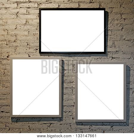 Empty Modern Picture Frames
