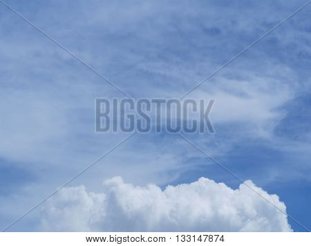 Beautiful clouds in the blue sky, Thailand