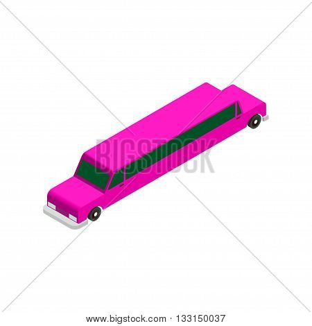 Vector Illustration Of Limousine Car Isolated On White Background vector illustration