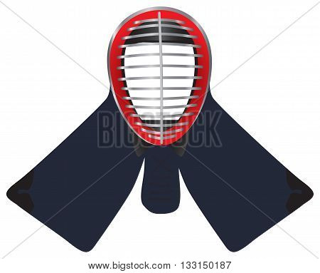 Mask to protect the face in kendo - men.