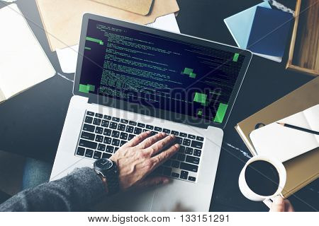 Php Programming Html Coding Cyberspace Concept