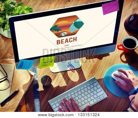 Beach Coast Seaside Shore Summer Vacation Concept