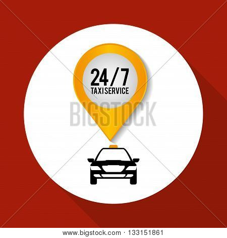 Taxi  concept with icon design, vector illustration 10 eps graphic.