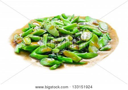 Fried Kale With Oyster Sauce Vegetarian Food