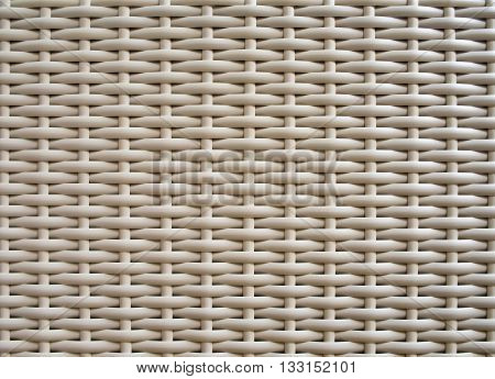 Close up Detail of Furniture see Plastic weave texture