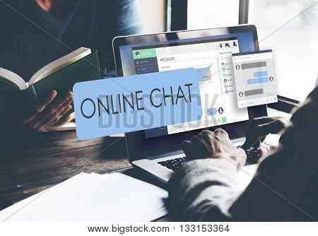 Online Internet Media Network Sharing Social Concept