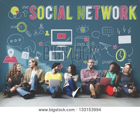 Social Network Internet Media Technology Internet Concept