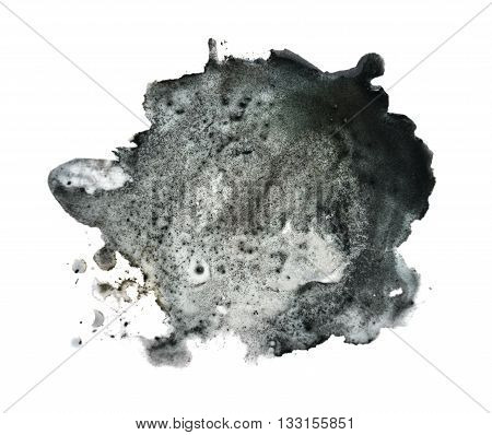 Black spot, blotch isolated on white background