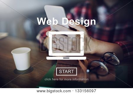 Web Design Homepage Internet layout Software Concept