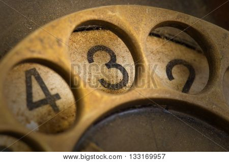 Close Up Of Vintage Phone Dial - 3
