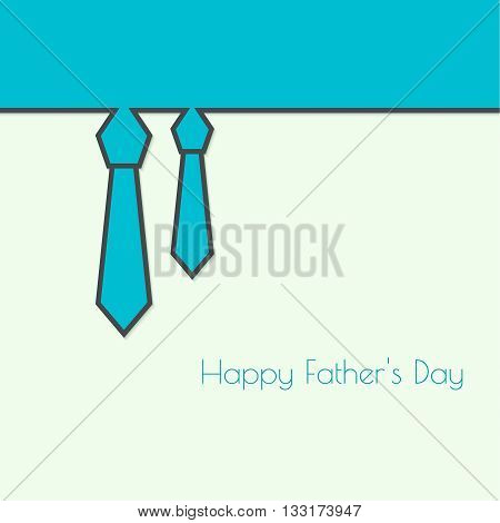 Abstract background with men ties. Happy Father Day. Icon men tie. Cravat. Elegant tie. Father day. Greetings happy father day. Vector