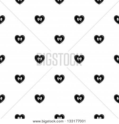Romantic seamless pattern in white background with  cute hearts