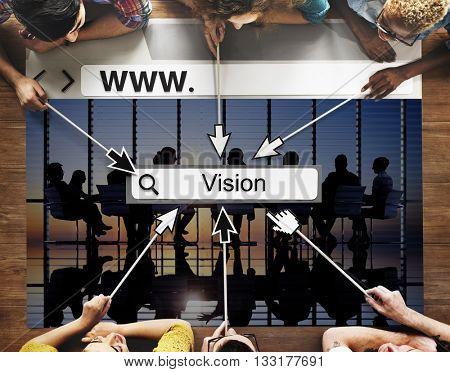 Vision Goals Inspiration Mission Motivation Ideas Concept