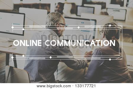 Online Communication Networking Media Technology Concept