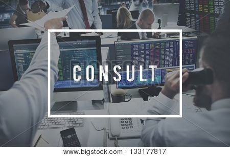 Advice Suggestion Advisor Guidance Consult Support Concept