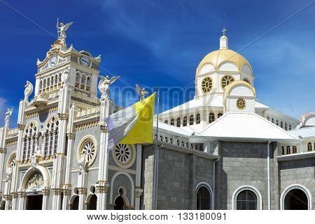 The Basilica de Nuestra Senora de los Angeles in the city of Cartago, built in 1639, Costa Rica