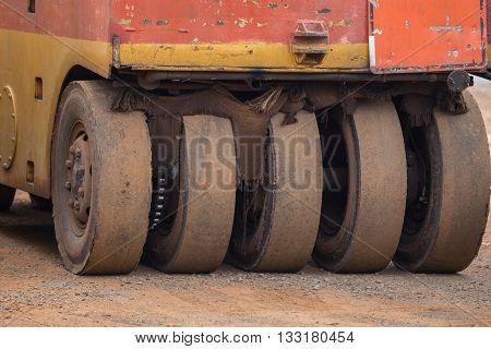 Pneumatic Tyred Roller Compactor Prepare For Road Repairing