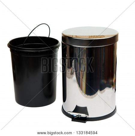 recycle, wastebasket bin isolated on white background