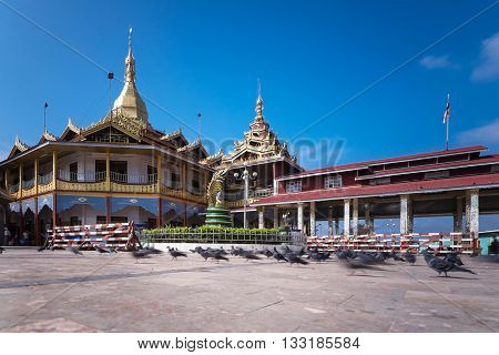 Mahamuni Paya Mandalay Myanmar. and blue sky