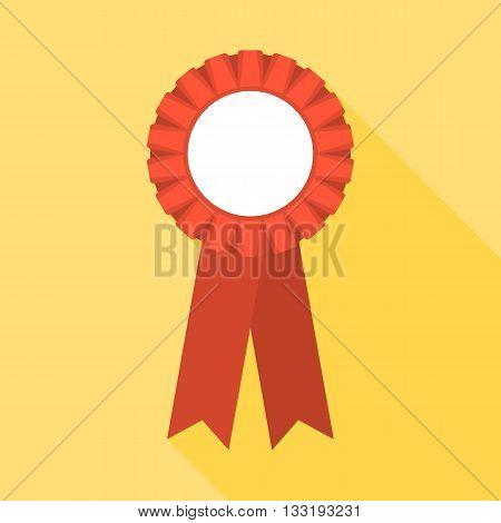 Blank Red Rosette illustration, rosette icon flat design