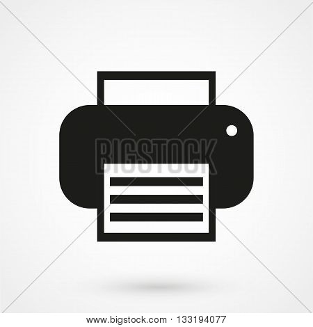 Printer Icon In A Simple Style