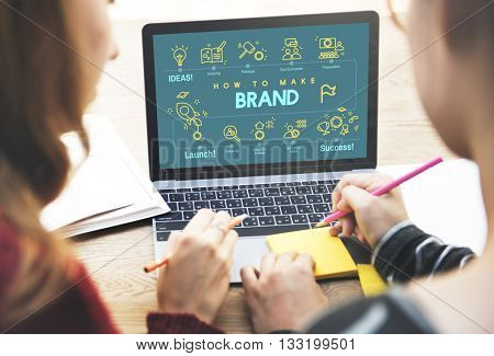 Brand Branding Copyright Label Logo Marketing Concept